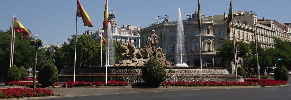 Foto de la Plaza Cibeles en Madrid. Hipotecas en Madrid