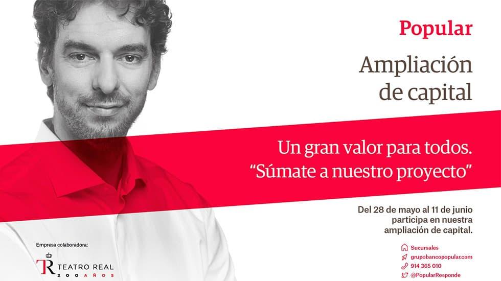 Publicidad de Pau Gasol para Banco Popular