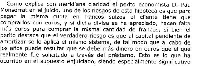 Mención de la Juez sobre informe pericial de Pau A. Monserrat