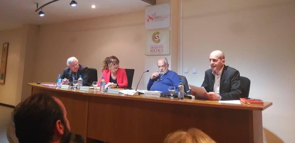 Ponencia sobre pensiones en el Colegio de Graduados Sociales de Baleares