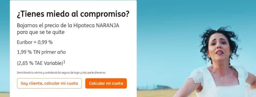 Hipoteca ING publicidad