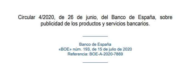 Publicidad de productos y servicios bancarios